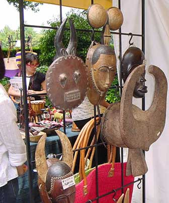 african masks, arts and craft works